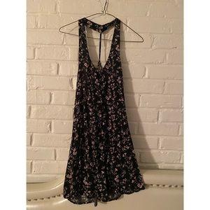 Short t-back floral dress